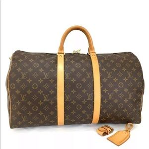 💋AUTH LV MONOGRAM KEEPALL 55 W/TAG AND BUCKLE💋